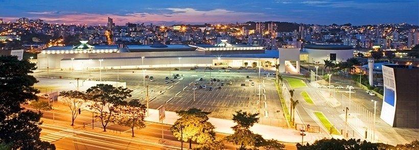 Expominas, em Belo Horizonte, pavilhão de eventos e negócios.