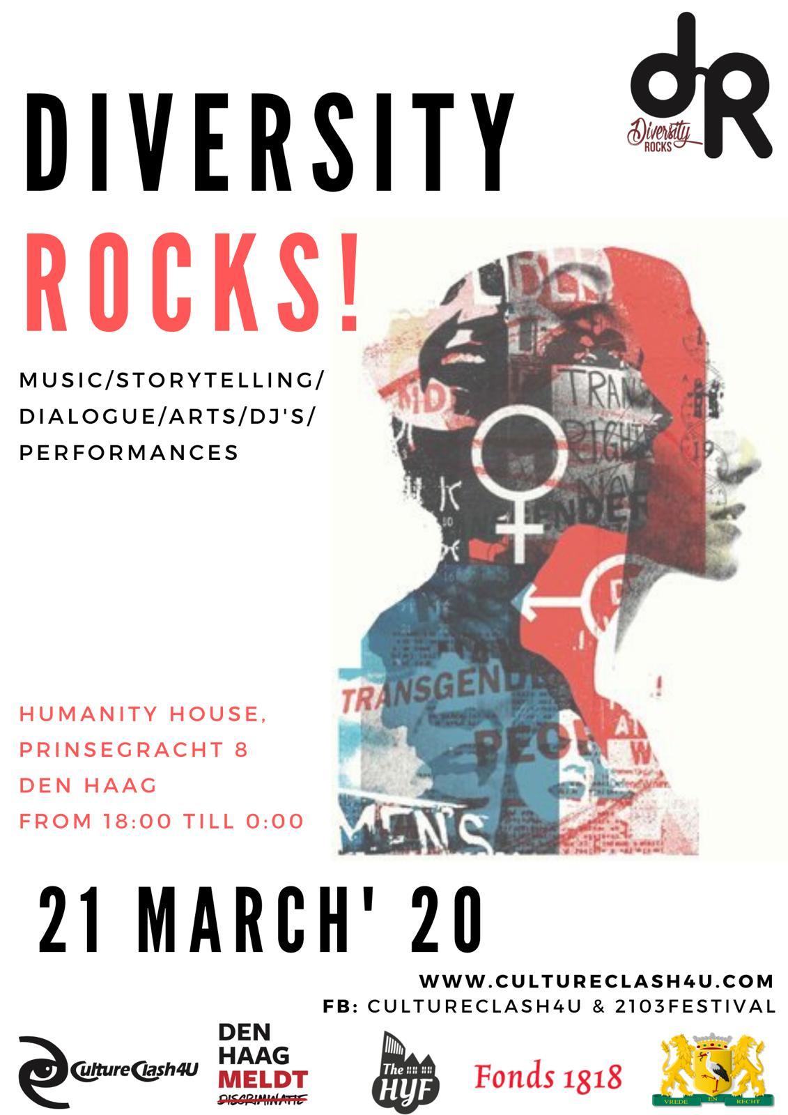 Culture Clash 4U, Humanity house. Event: Diversity Rocks