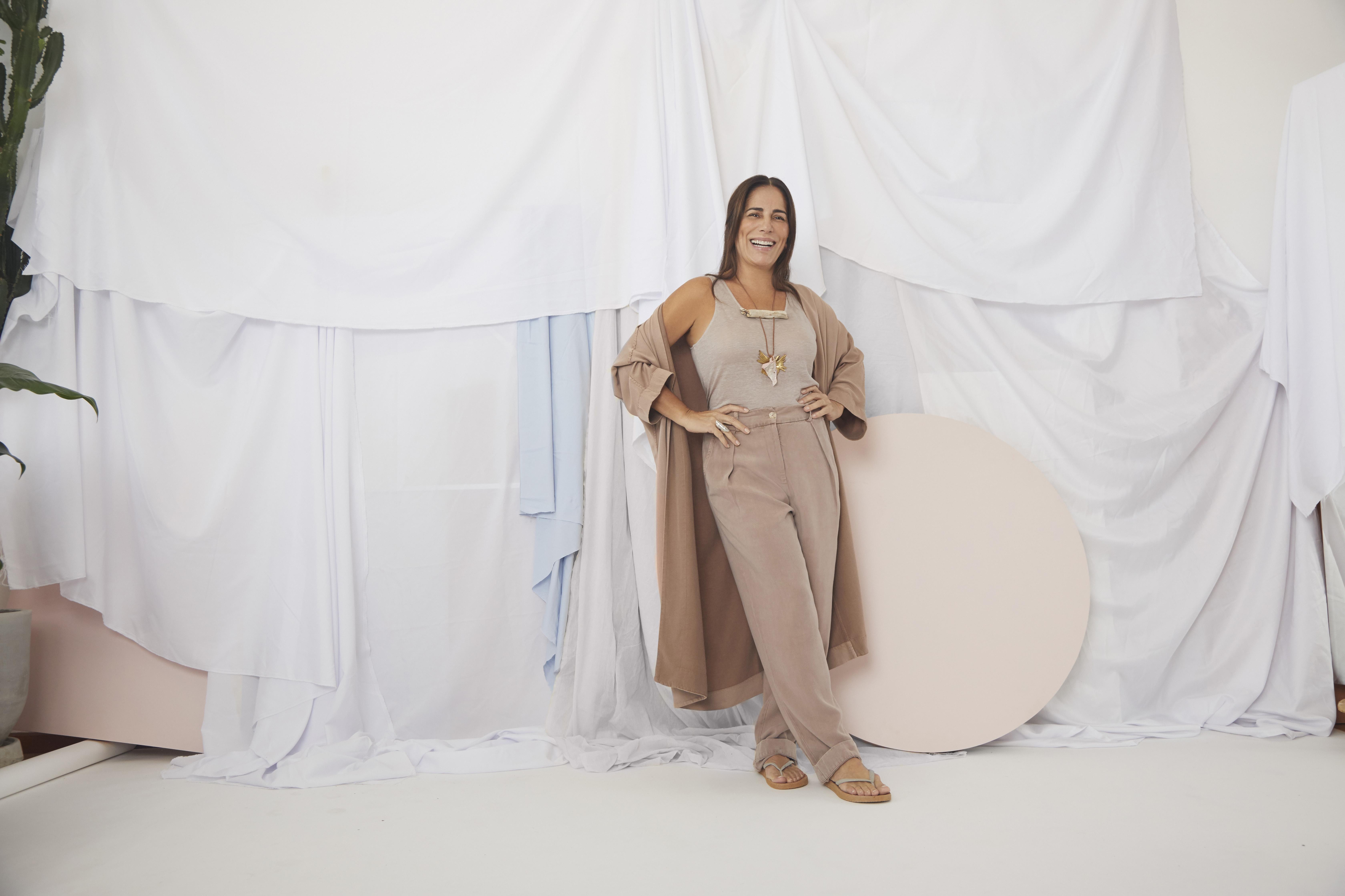 Gloria Pires, na Bemglô, plataforma colaborativa de produtos sustentáveis, consumo consciente