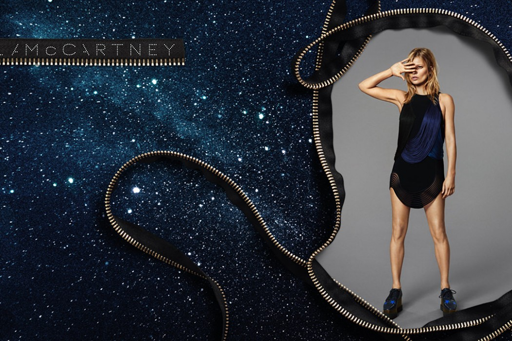 Kate Moss dreams in Stella McCartney's campaign. Source: Amsterdam Fashion TV