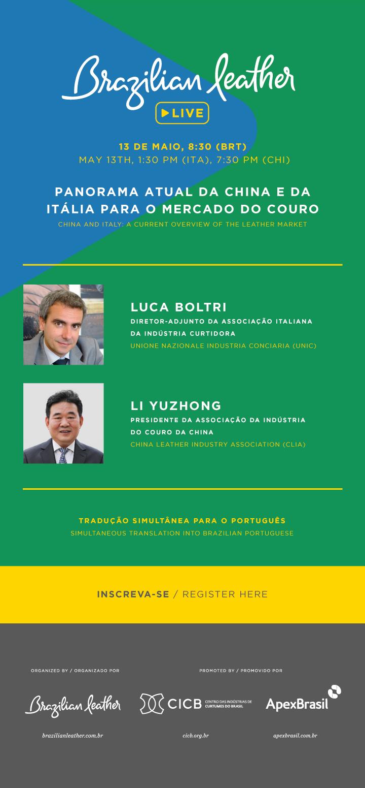 Brazilian Leather, CICB, Apex Brasil, Luca Boltri, Li Yuzhong
