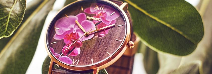 Relógio WeWood Brasil - Aurora Flower Nut