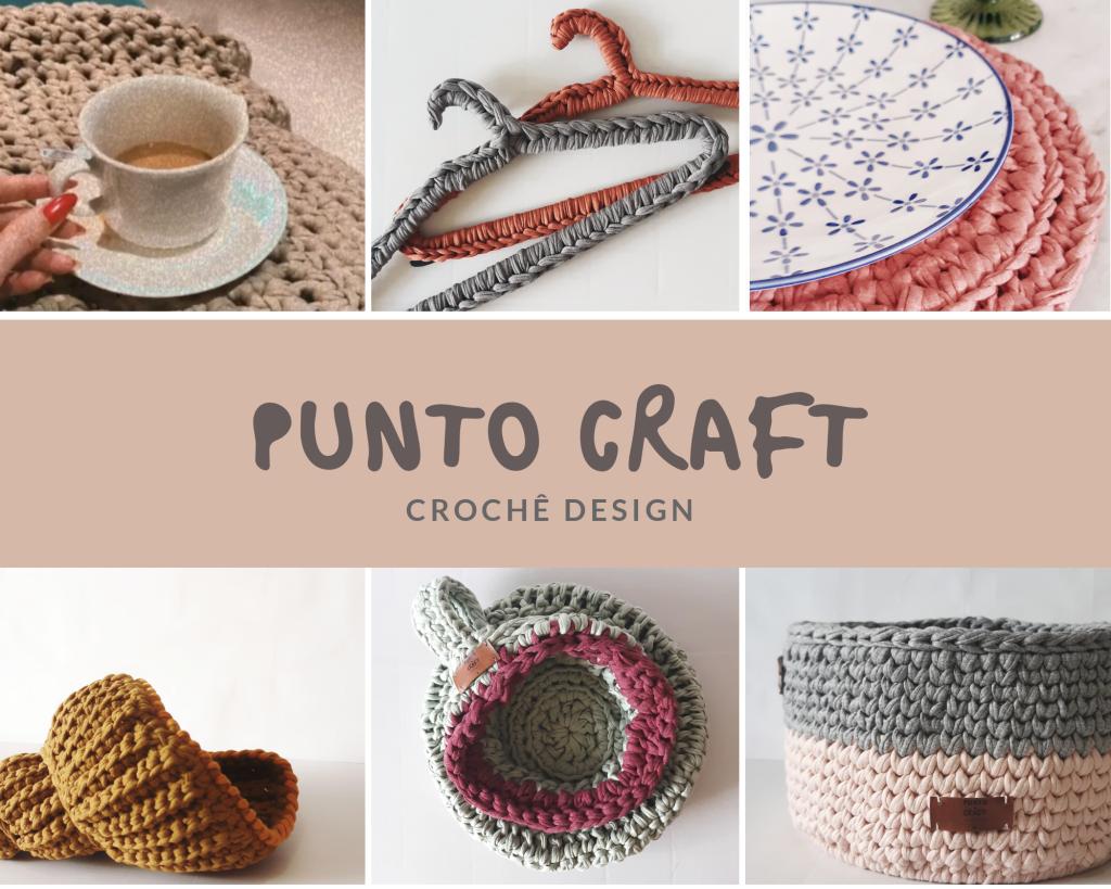 Ateliê Punto Craft, crochê design, com fios de malha reciclados