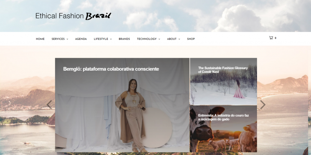 Ethical Fashion Brazil homepage