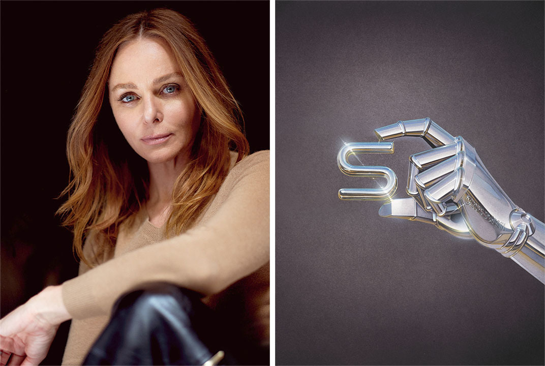 For her A-to-Z manifesto, Stella McCartney enlisted artists from around the world to each create the imagery for a letter. Hajime Sorayama created ÒSÓ for Sustainability. Source image: https://wwd.com/fashion-news/fashion-features/stella-mccartney-abcs-spring-2021-bridget-foleys-diary-1234618317/