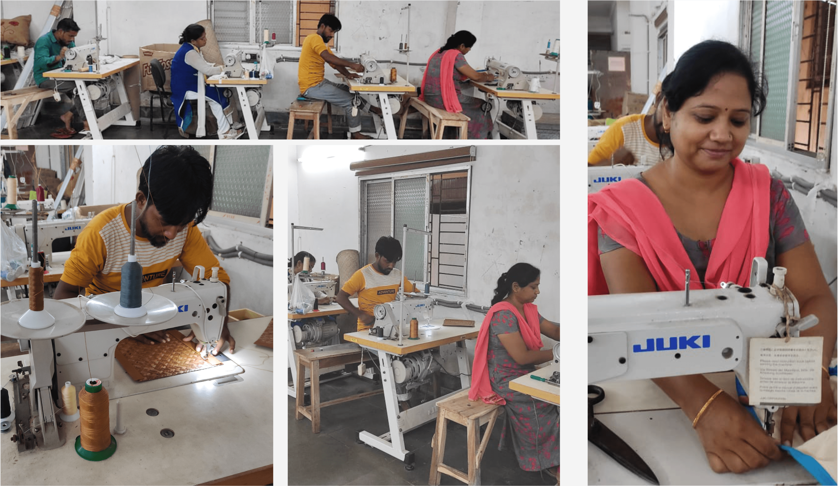 Local production of bags in India. Source: Xander bags