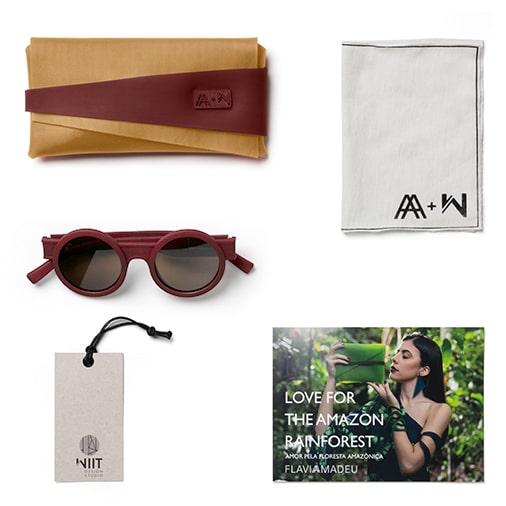 Witt Design + Flávia Amadeu: parceria de óculos com impressão 3D e case feito de borracha natural da Amazônia com produção sustentável