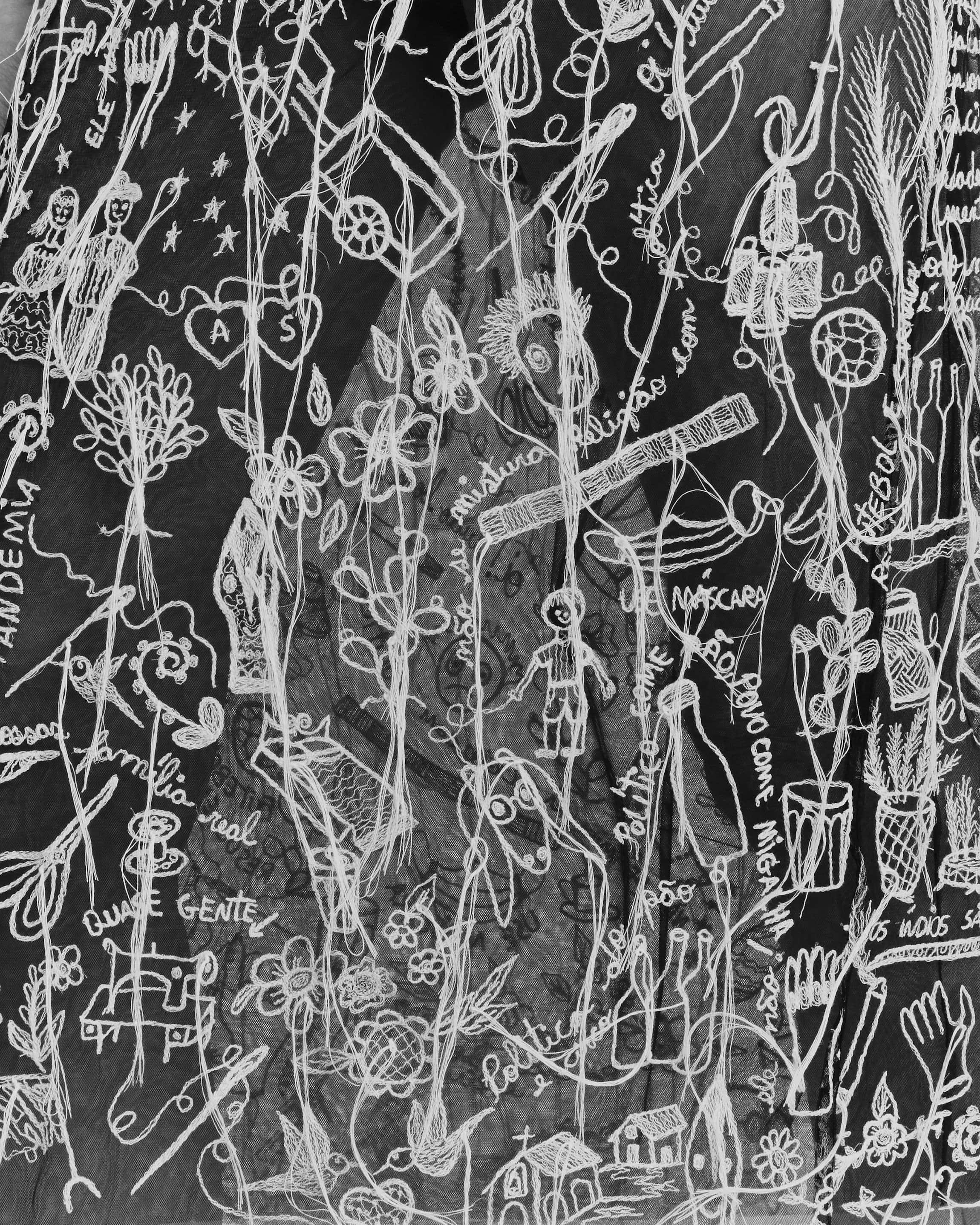 Bordado feito por artesãs do Vale do Jequitinhonha, Minas Gerais, Brasil, para João Maraschin