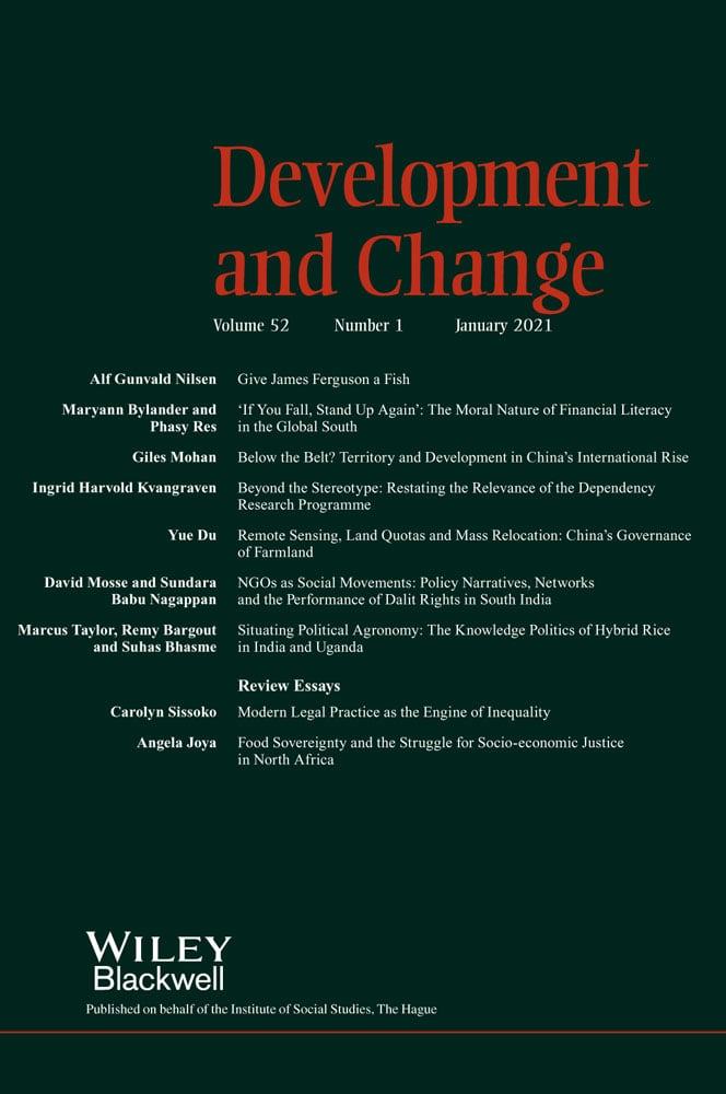 Journal Development and Change. International Institute of Social Studies