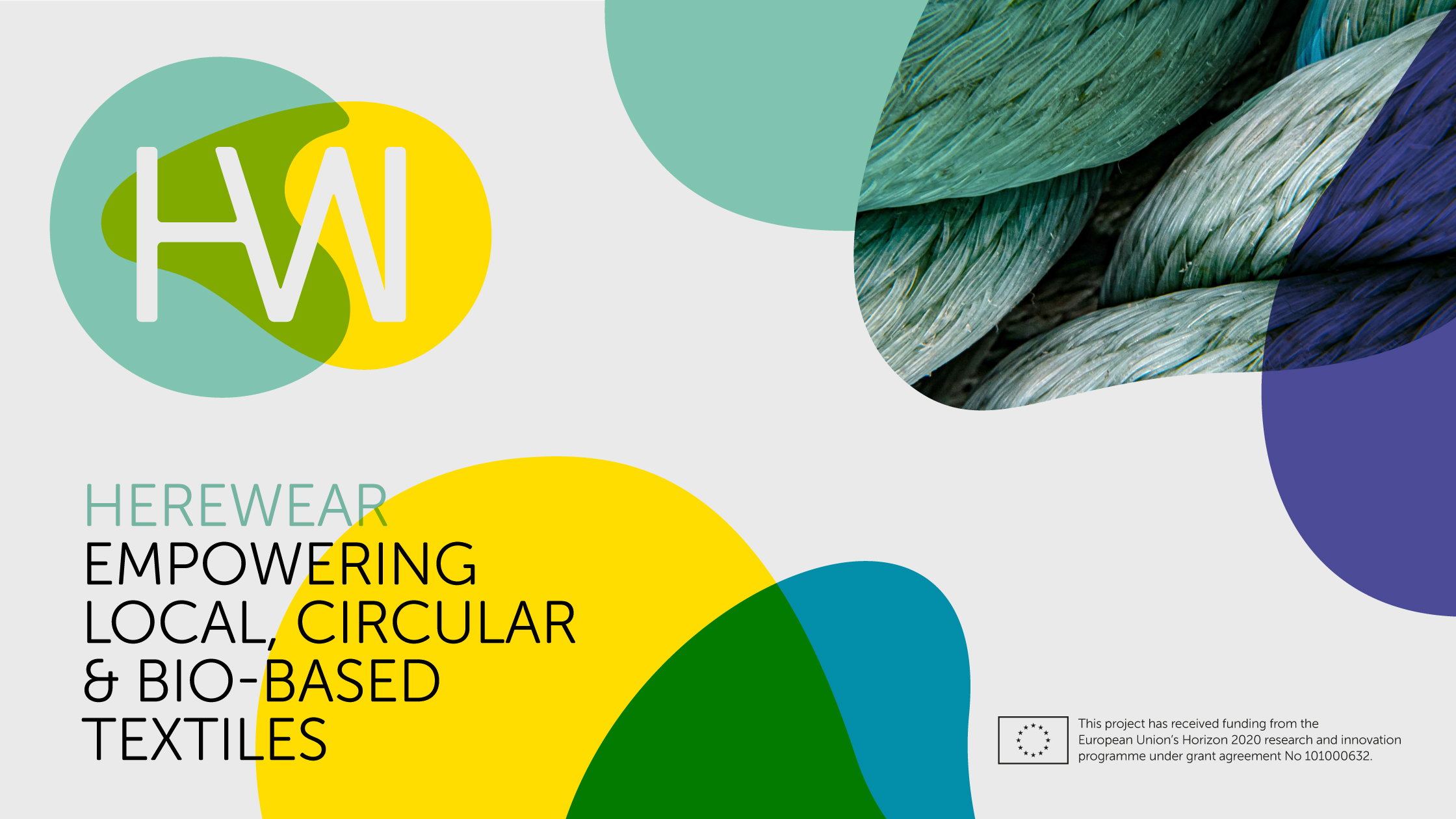 Herewear project - Horizon 2020 - European Union - logo - empowering local, circular and bio-based textiles